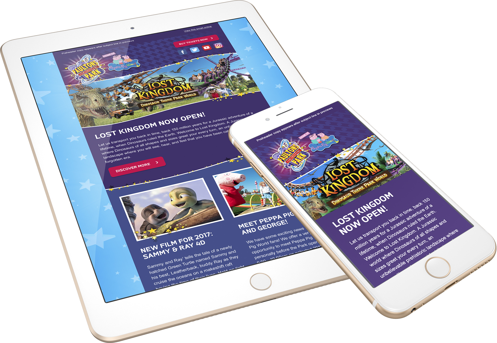 Paultons Park Responsive Email Templates