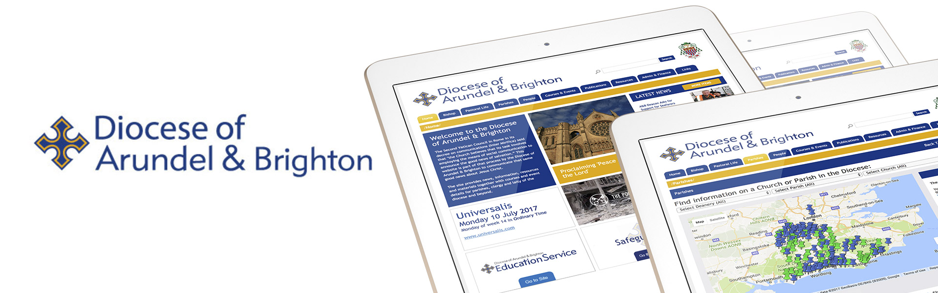 Diocese of Arundel and Brighton Website Creation