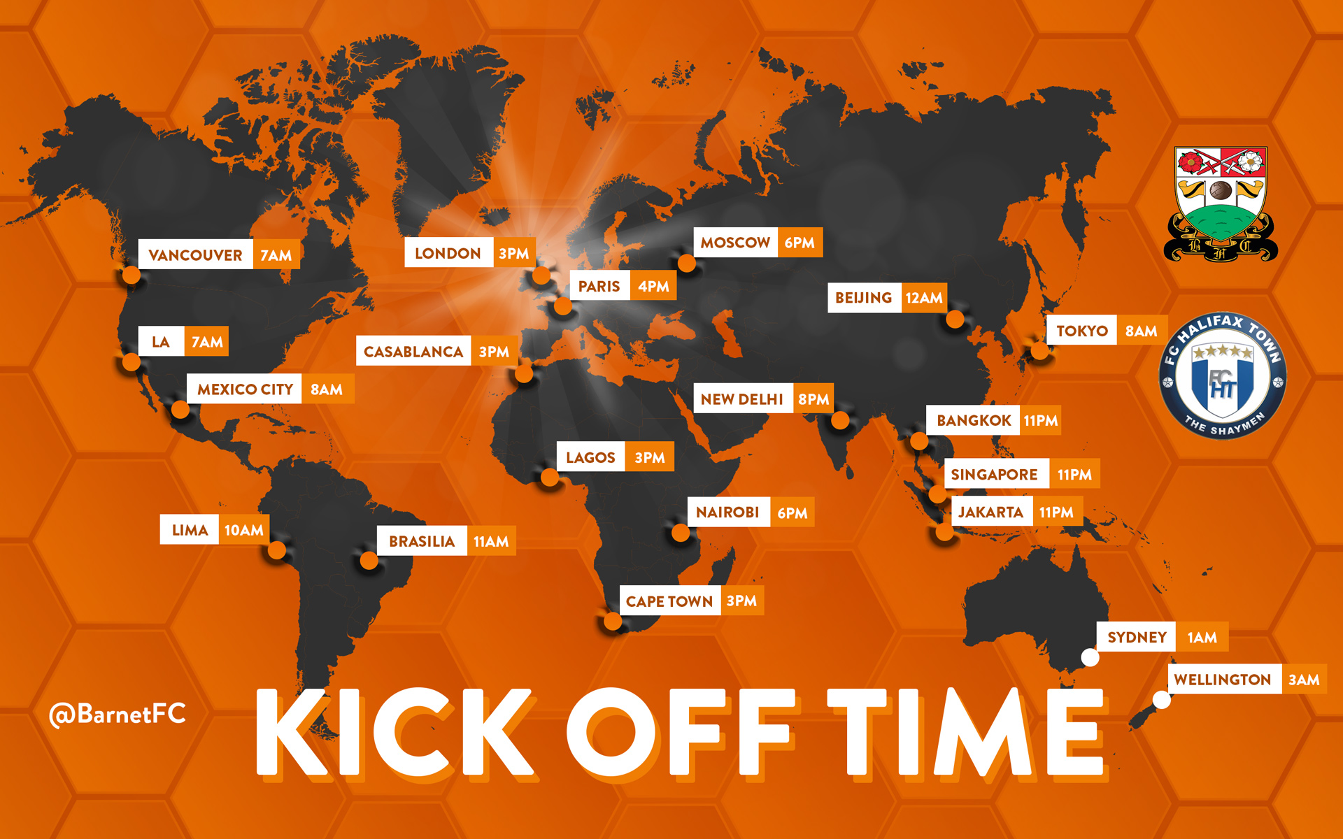 Kick Off Times Graphic For Social Media