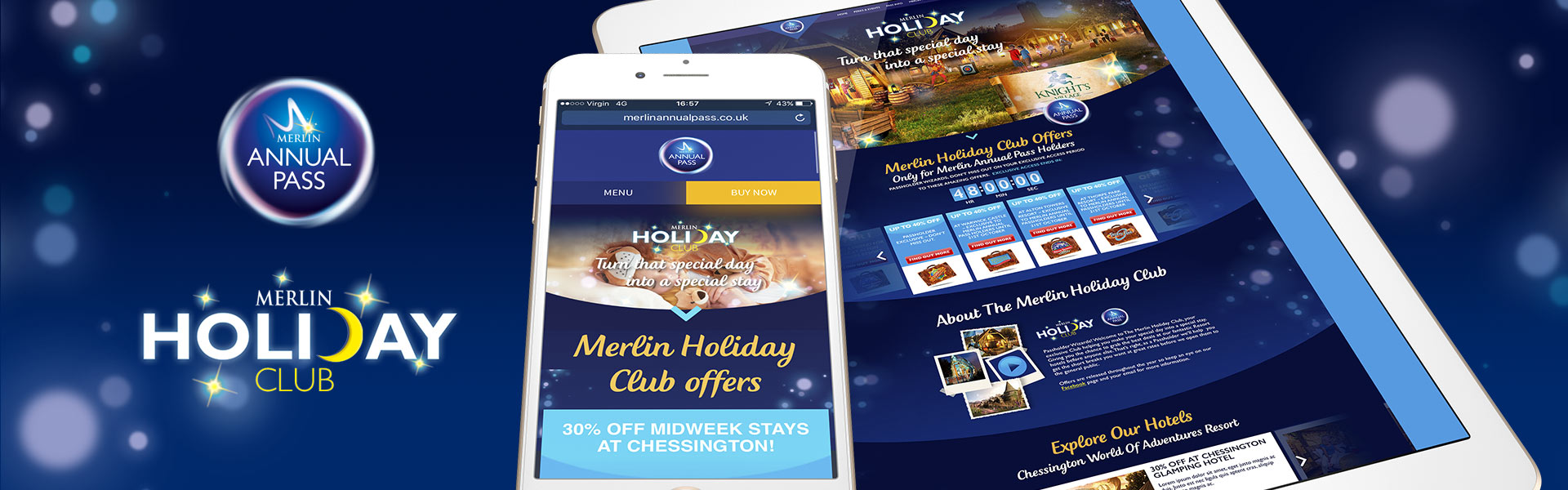 Merlin Holiday Club Website Design
