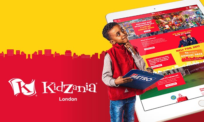 Kidzania London website